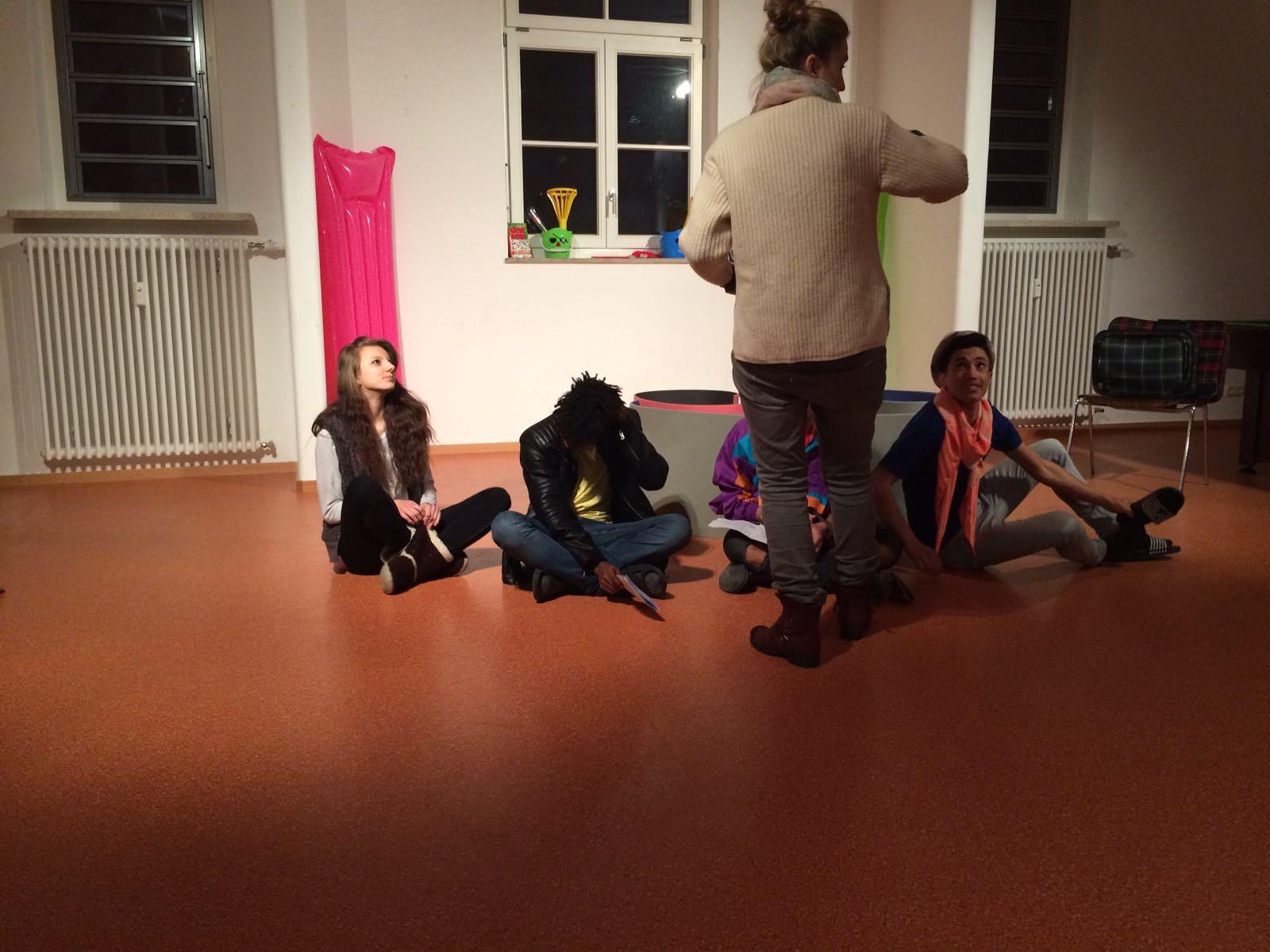 Probenfotos Theaterprojekt Shakespeare Projektleitung Tatjana Schoeler