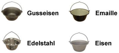Gulaschkessel Varianten