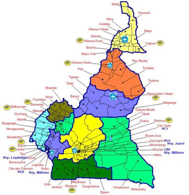 Une carte sanitaire du Cameroun