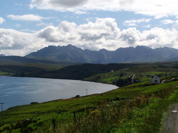 Blick auf das Cuillin-Massiv - Skye
