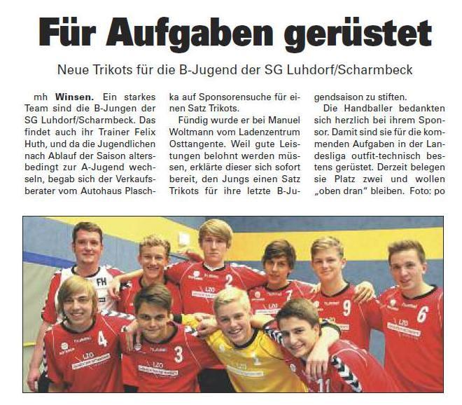 MB Neue Trikots für LL-Team WA 05.10.2012