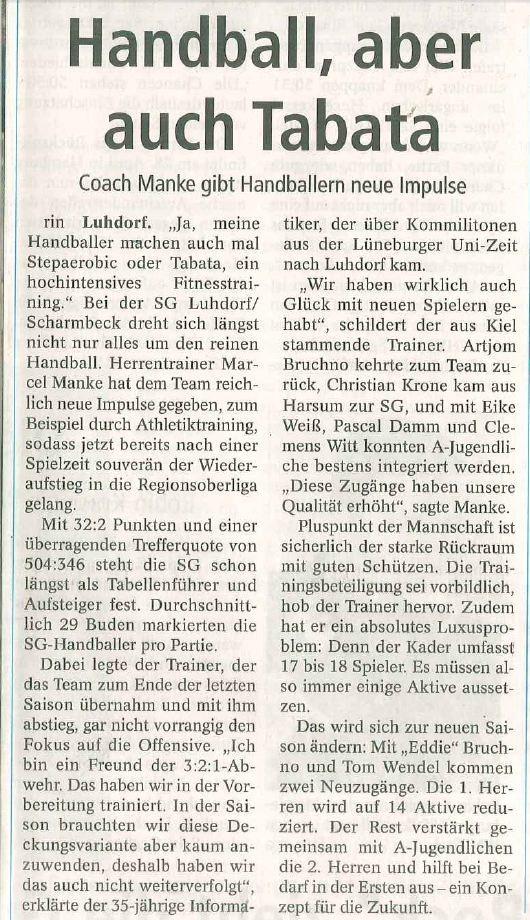 1.Herren Aufstieg Winsener Anzeiger 20.04.2013