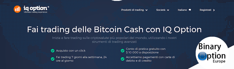 bitcoin cash trading iq option