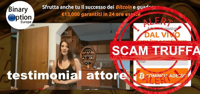 Bitcoin code testimonial truffa 1