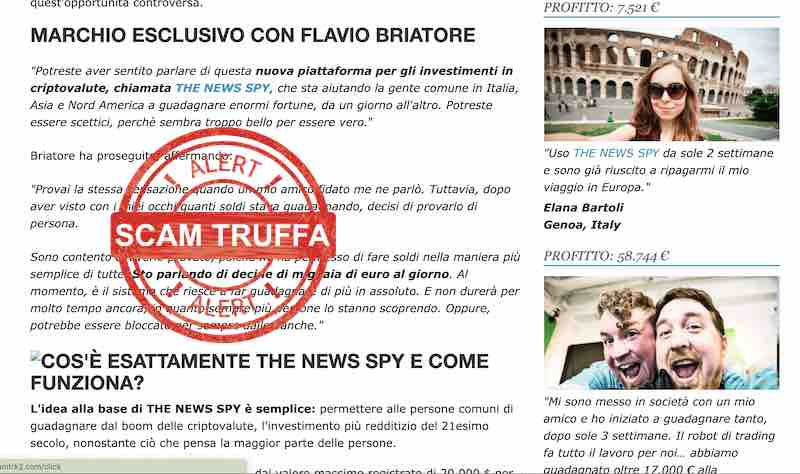 the news spy truffa