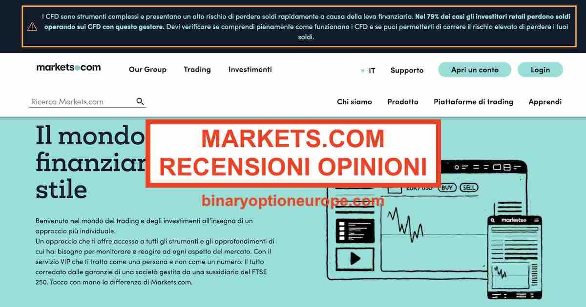 markets.com recensione e guida completa quando scegliere un trading con le opzioni binarie sulloro