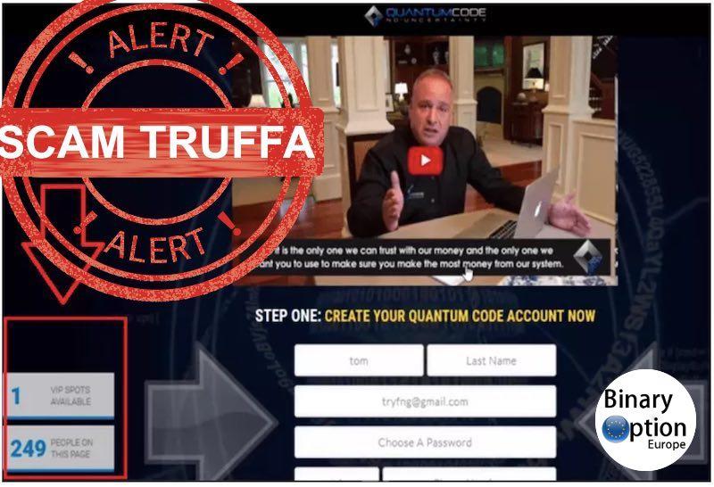 quantum code scam truffa