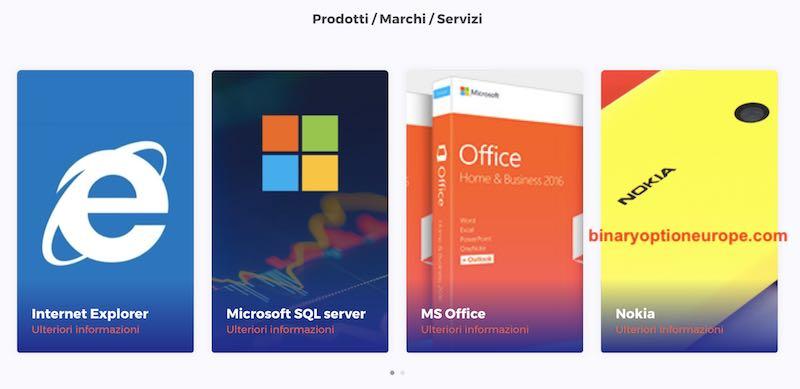 prodotti microsoft azioni come comprare