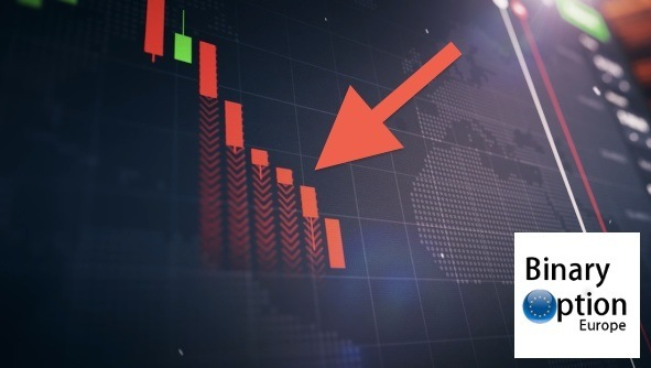 Candele giapponesi discendenti strategia rottura di tendenza iq option
