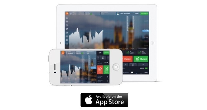 OptionBit applicazione Apple iPhone iPad opzioni binarie gratis Binary Options mobile