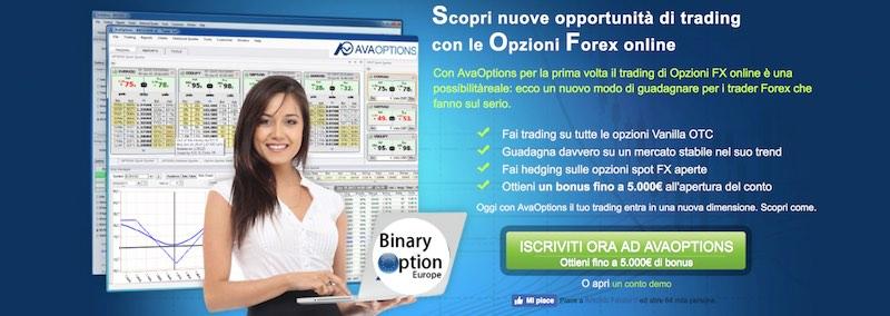 avaoptions opzioni vanilla conto demo gratis senza deposito