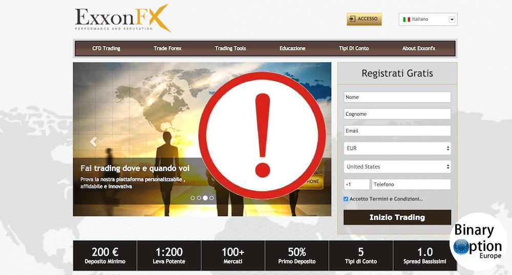 exxonfx opinioni recensione broker truffa forex 2019