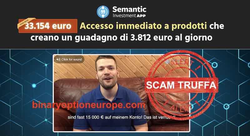 semantic app testimonial truffa uomo attore