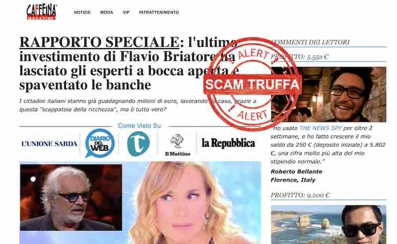 the news spy truffa opinioni recensioni flavio briatore