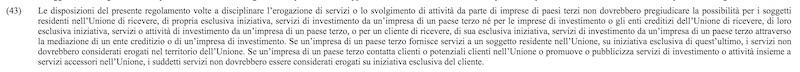 REGOLAMENTO (UE) N. 600/2014