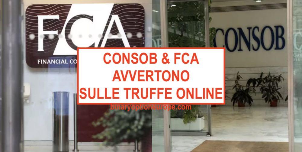 consob avverte i risparmiatori fca truffe online diffida