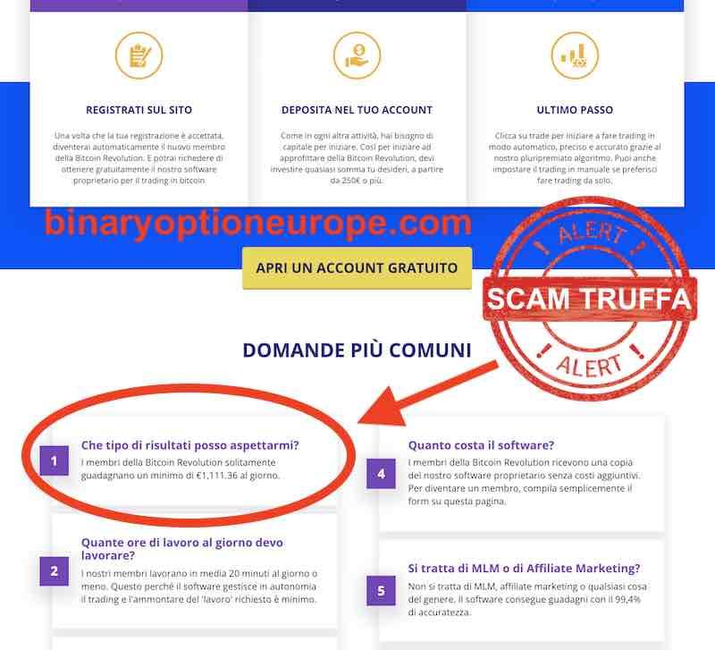 bitcoin revolution truffa opinioni e recensioni italiani 2018-2019