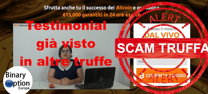 Bitcoin code testimonial truffa 3