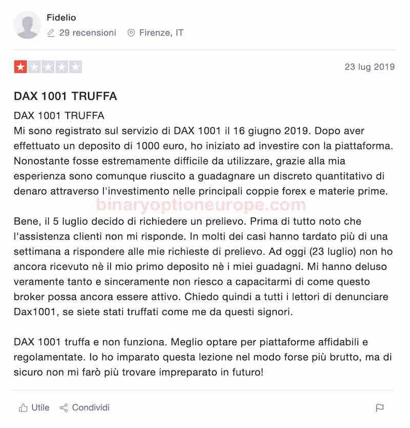 dax1001 forum trustpilot