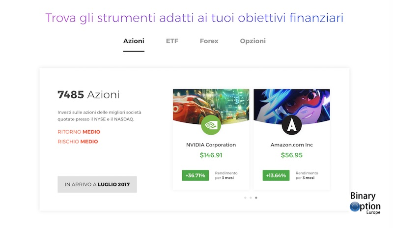 iq option azioni