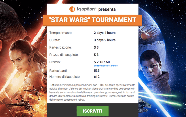 iq option star wars torneo 2015 2016