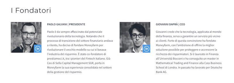 moneyfarm Paolo Galvani e Giovanni Dapra