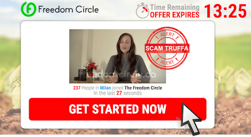 freedom circle video recensioni truffa donna