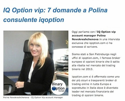 iq option vip consulente polina russia