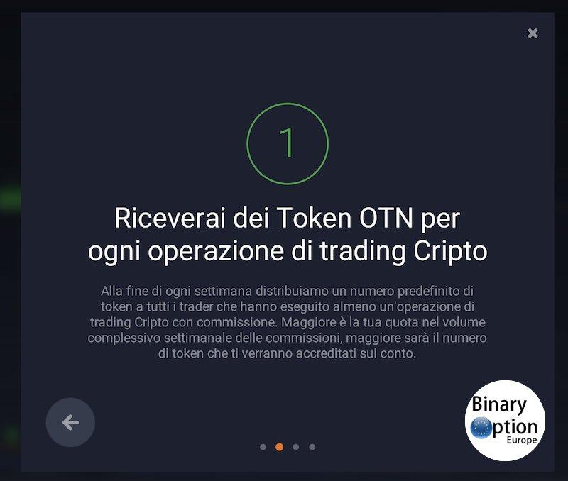 OTN IQ Option come ricevere subito i token