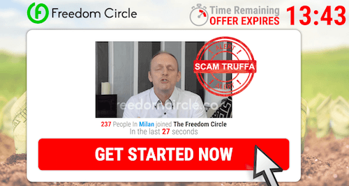 freedom circle video recensioni truffa inglesi