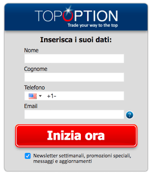 topoption demo registrazione