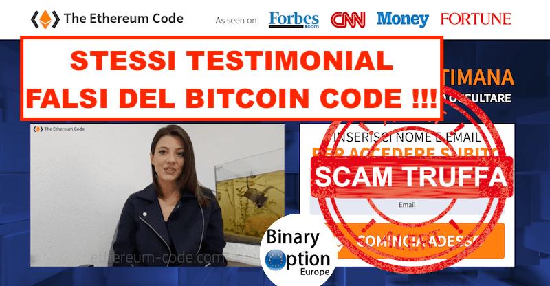 Attrice già vista nel Bitcoin Code