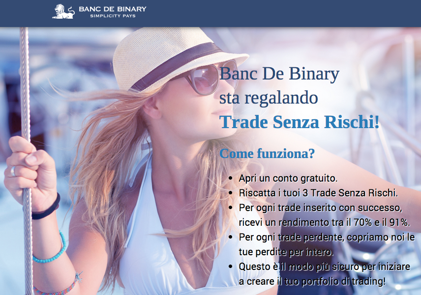 banc de binary 3 operazioni senza rischio per provare le opzioni binarie