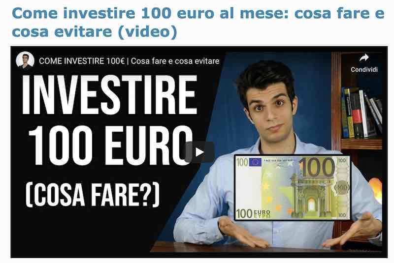 come investire 100 euro al mese