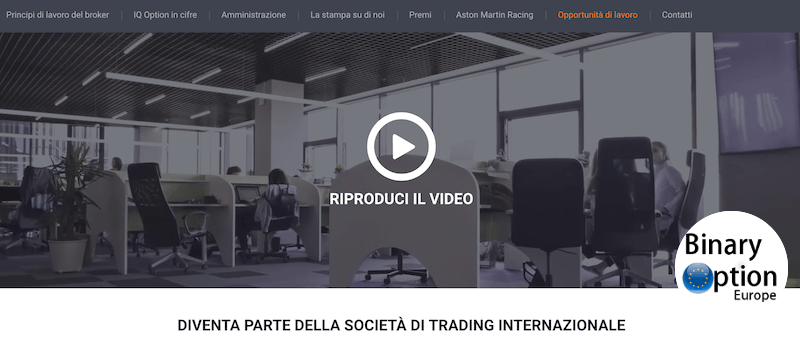 Lavora con IQ Option - carriera all'estero