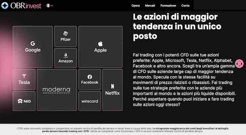 obrinvest demo gratis azioni forex criptovalute