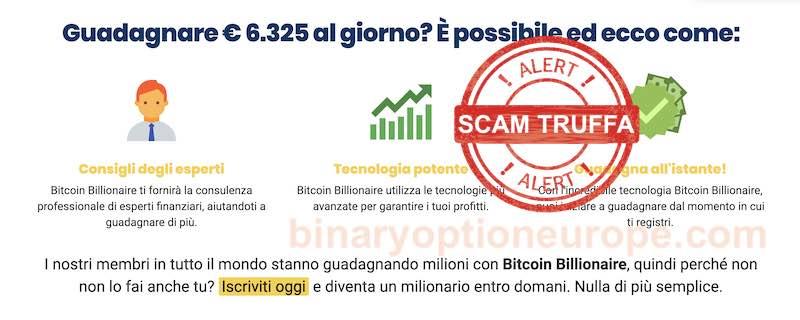 bitcoin billionaire truffa bufala