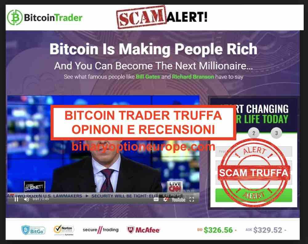Bitcoin Trader 2019 truffa come funziona? Recensioni e opinioni