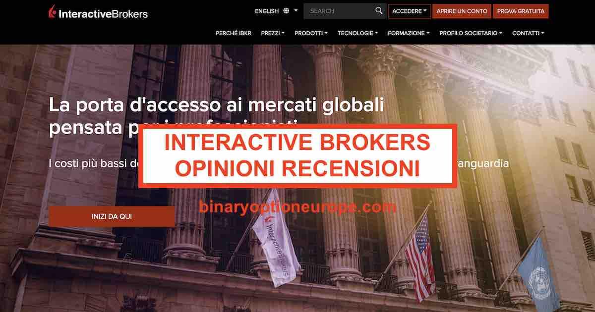Interactive Brokers: Analisi, Opinioni, Tariffe - luigirota.it