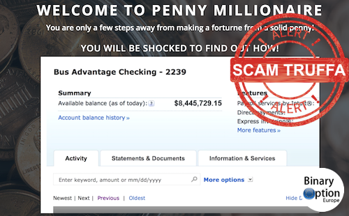 penny millionaire truffa
