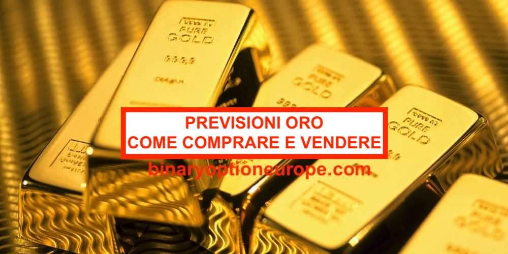 Previsioni oro come fare trading sull'oro Guida completa CFD