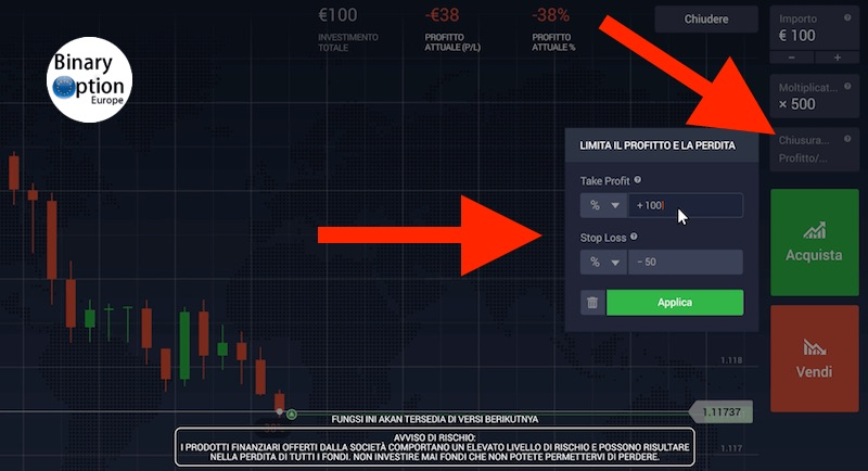 iq option forex stop loss take profit