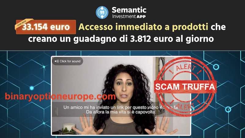 semantic app testimonial truffa donna attrice