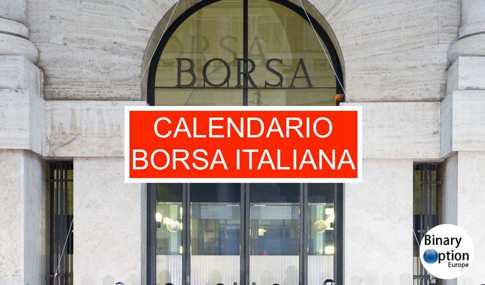 Borsa Italiana Calendario 2020.Trucchi Forex Trading Opzioni Cfd Gli Indicatori Mt4