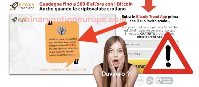 bitcoin trend app recensioni e opinioni false