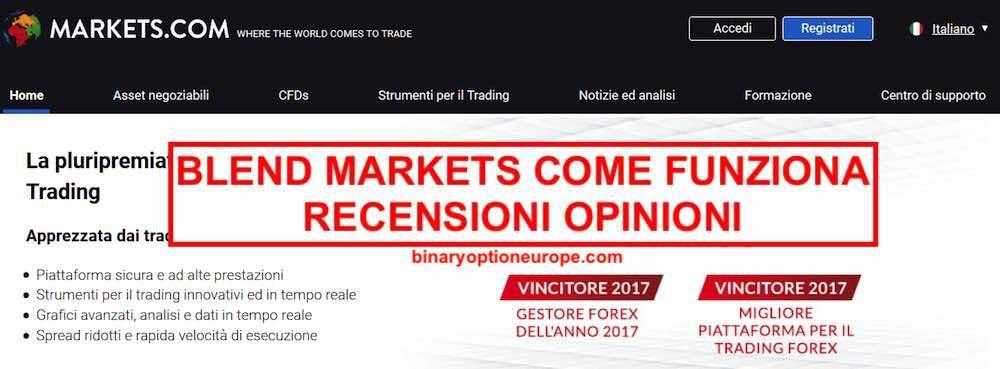 trading blend markets.com come funziona recensioni opinioni