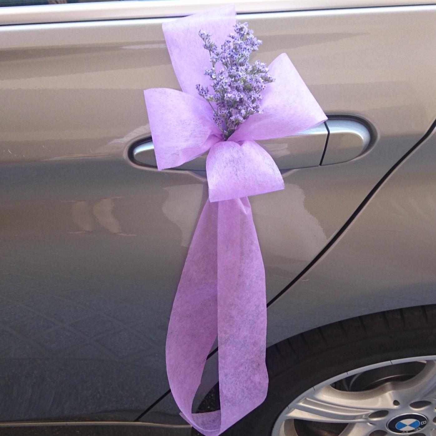 Decoración coche de novia