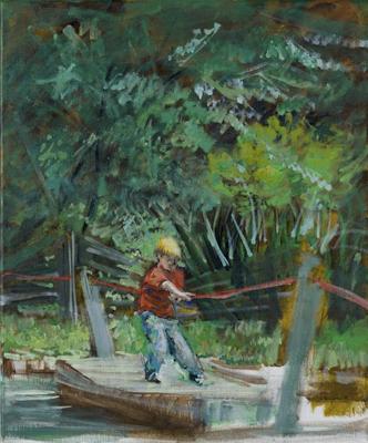 """""""Übersetzen"""", Acryl, 50x60cm, 2008"""