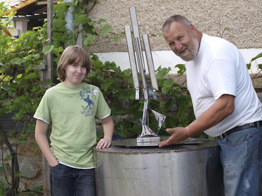 Thomas und sein Meister Robert Wilfing, 2012