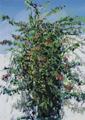 """""""Südliche Vegetation """", Acryl, 50x70cm, 2008"""